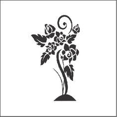 Adesivo de Parede Decorativo Roseira