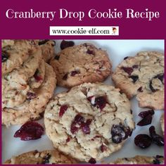 Cranberry Drop Cookies Recipe: ingredients, directions, and special baking tips from The Elf to make this easy oatmeal drop cookies variation. Drop Cookie Recipes, Oatmeal Cookie Recipes, Oatmeal Cookies, Cookie Gift Baskets, Cookie Gifts, Drop Cookies, Baking Tips, Cookie Dough, Cravings