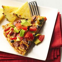 Southwestern Black Bean and Andouille Frittata: A crowd-pleasing dish for breakfast or brunch. Recipe: http://www.midwestliving.com/recipe/southwestern-black-bean-and-andouille-frittata/