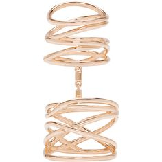 Repossi Rose Gold Twin Ring ($6,800) ❤ liked on Polyvore