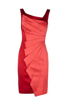 Karen Millen Dignature Stretch Satin Dress Red - suit-dresses.com - $83.85