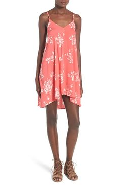 Free shipping and returns on Mimi Chica Print Swing Camisole Dress at Nordstrom.com. A swingy camisole dress cut with a wide V-neck and strappy back will add a dose of boho chic to your summer wardrobe.