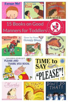 15 Books about Good Manners for Toddlers All parents agree that teaching kids manners is important, and it's best to catch them young! Here is our list of 15 books on good manners for toddlers, that parents and kids are sure to love! Manners Preschool, Teaching Kids Manners, Manners Activities, Manners For Kids, Preschool Books, Preschool Themes, Toddler Learning, Toddler Activities, Preschool Rules