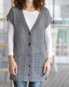 Cardigan & Waistcoat Knit Pattern From A - Diy Crafts - maallure Ladies Cardigan Knitting Patterns, Knit Vest Pattern, Easy Knitting Patterns, Lace Knitting, Knitting Designs, Toddler Dress Patterns, Diy Dress, Crochet Clothes, Cardigans For Women