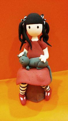 Gorjuss Jumping Clay, Clay Ideas, Hello Kitty, Fictional Characters, Art, Laminas Vintage, Art Background, Kunst, Gcse Art