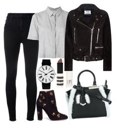 """""""Untitled #1609"""" by mihai-theodora ❤ liked on Polyvore featuring Rosendahl, Fendi, J Brand, Aquazzura, T By Alexander Wang, Acne Studios and Topshop"""