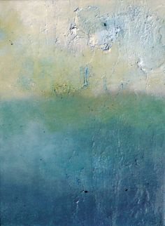 Arctic sea Original Abstract Painting Textured 9x7 by AbstractArtM
