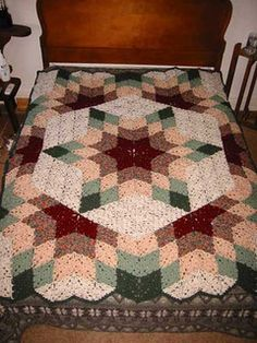 """@Kelly Gibson, look at this! It's the best crochet """"quilt"""" pattern I've seen. Can't wait to make it!"""