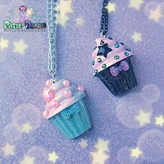 creepy cute cupcake pearl necklace Glitter, Pastel Goth, Fairy Kei,... ($6.61) via Polyvore featuring jewelry, necklaces, grunge necklaces, clay necklace, pearl jewelry, glitter jewelry and gothic necklace