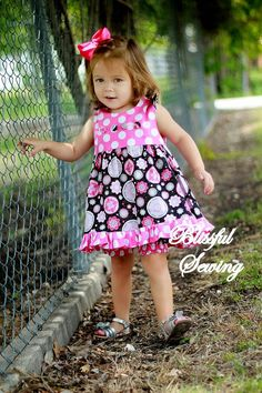 bfc72fefcb9d Ruffled Top/Dress Sewing Pattern, Newborn to 6 years .#toddler #baby