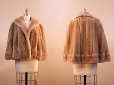vintage fawn cape // faux fur capelet by Tissavel