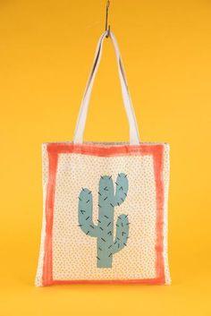 Cactus Cotton Canvas Bag