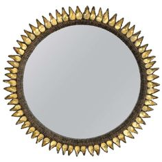 Line Vautrin Flammes Mirror | From a unique collection of antique and modern wall mirrors at http://www.1stdibs.com/furniture/mirrors/wall-mirrors/