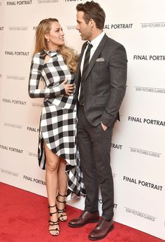 """Blake Lively and Ryan Renolds attend the """"Final Portrait"""" New York Screening at Guggenheim Museum on March 22, 2018 in New York City."""