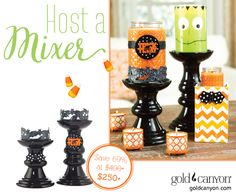 Be a Gold Canyon Host! Earn rewards like free candles! | Gold Canyon – Scented candles, holders, fragrance & décor. www.JustForWicks.com
