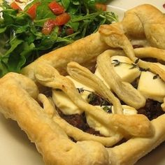 Caramelized Onion Goat Cheese Tart by FoodLustPeopleLove