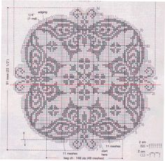 Фигурная-салфетка-с-бабочками-крючок схема 2