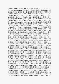 """""""Untitled #6 (1066 Circles each Drawn at Different Pressures at 50mm/s),"""" from """"Scripted Movement Drawing Series 1"""" (2014) by Andrew Kudless"""
