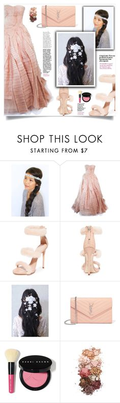 """Empire dreams!"" by samra-bv ❤ liked on Polyvore featuring Vera Wang, Giuseppe Zanotti, Yves Saint Laurent, Bobbi Brown Cosmetics, Sigma and vintage"