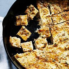 Artichoke Nibbles - Contributed in 1971 by a Sunset reader... squares of artichoke-flecked cheese custard