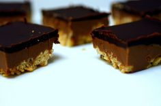 Peanut Butter Crispy Bars by smitten - you have to read the quote about party poopers just below the previouslies above the recipe itself, really you do!