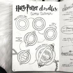 potter harry turner easy drawing draw tutorial drawings sketch zeichnen bujo bullet journal cool aesthetic potterheads simple doodle drawtormen ofwea