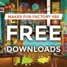 Maker Fun Factory VBS 2017 - DOWNLOAD FREE - theme logos, decorating images, music theme song, intro video