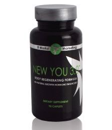 Turn back the hands of time from the inside out with New You! This one-of-a-kind longevity formula is designed to stimulate and support the production and release of the body's own human growth hormone.         • Stimulates natural production and release of HGH (human growth hormone)  • Aids in building lean muscle mass  • Enhances exercise endurance  • Helps improve sleep quality and memory     New enhanced formula now includes natural polyphenols that help improve blood supply to the muscles and help to reduce the harmful effects of free radicals for better post-workout recovery