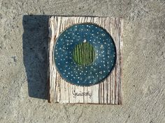 Stars / Rustic Hand Painted Picture On Hand Carved by Popielnik
