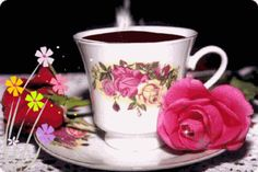 Discover & share this Animated GIF with everyone you know. GIPHY is how you search, share, discover, and create GIFs. Coffee Gif, Coffee Love, Coffee Break, Coffee Cups, Tea Cups, Gif Café, Animated Gif, Have A Beautiful Day, Beautiful Roses