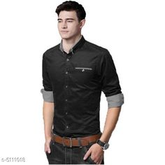 Checkout this latest Shirts Product Name: *Men's Stylish Shirts * Fabric: Cotton Sleeve Length: Long Sleeves Pattern: Solid Multipack: 1 Sizes: S (Chest Size: 36 in, Length Size: 27 in)  M (Chest Size: 38 in, Length Size: 27 in)  L (Chest Size: 40 in, Length Size: 27 in)  XL (Chest Size: 42 in, Length Size: 27 in)  Country of Origin: India Easy Returns Available In Case Of Any Issue   Catalog Rating: ★4 (497)  Catalog Name: Trendy Fashionable Men Shirts CatalogID_753829 C70-SC1206 Code: 034-5111018-2601