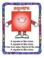 Square Shape Poems (song) The Farmer and the Dell Preschool Music, Preschool Classroom, Preschool Learning, Kindergarten Math, Preschool Activities, Preschool Shapes, Preschool Decorations, Shape Songs, Teaching Shapes
