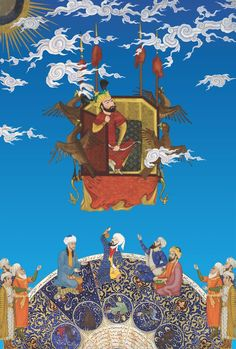 Hamid Rahmanian (Iranian, born Kay Kavous Reaches for the Heavens, from Shahnameh: The Epic of Persian Kings, 2013 Anubis, Taj Mahal, The Art Of Storytelling, Islamic Paintings, Iranian Art, Illuminated Manuscript, Botanical Prints, Islamic Art, Art And Architecture