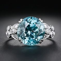 Gorgeous blue diamon beauty bling jewelry fashion