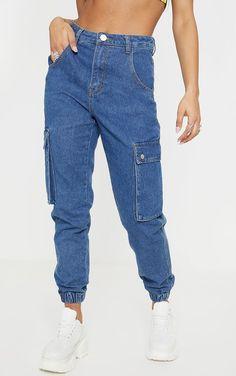 Denim Cargo Pants, Denim Joggers, Jean Outfits, Cute Outfits, 90s Fashion, Fashion Outfits, Urban Outfitters Jeans, Pants Outfit, Aesthetic Clothes