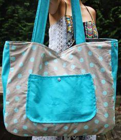 Sacs Tote Bags, Diy Sac, Beard Lover, Couture Sewing, Pop Couture, Cotton Bag, Purses And Handbags, Diaper Bag, Blog