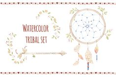 Watercolor tribal set by Mariart32 on Creative Market