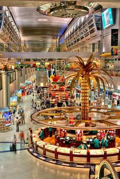 Dubai International Airport  It was much different, the last time I saw it...