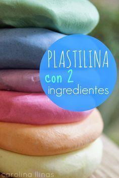 Nuestro Mundo Creativo: Plastilina con 2 ingredientes:  acondicionador de cabello y maizena.