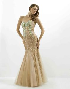 Sexy Noble Sweetheart Floor-Length Backles Mermaid Prom Dresses ful Crystals Beaded Sleeveless Shining Gold Evening Dresses Gowns, $169.64 | DHgate.com