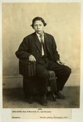 Charles Keokuk, son of Moses Keokuk and grandson of Keokuk, Sauk and Fox, 1868. Albumen print. Photo by Zeno Shindler. Palace of the Governors Photo Archives 56173. Exhibit: May 18 to November 4, 2012.