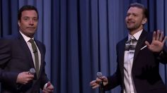 """Week 1 of """"The Tonight Show starring Jimmy Fallon"""" ended with a lot of rapping from Justin TImberlake and Jimmy Fallon."""