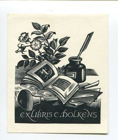 Bookplate by Pam Rueter for C Dolkens : Op 452