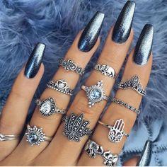 pretty nail art designs for 2017 - Nail Designs 2019 Pretty Nail Designs, Pretty Nail Art, Nail Art Designs, Chrome Nails Designs, Hair And Nails, My Nails, Fake Gel Nails, Crome Nails, Ballerina Nails