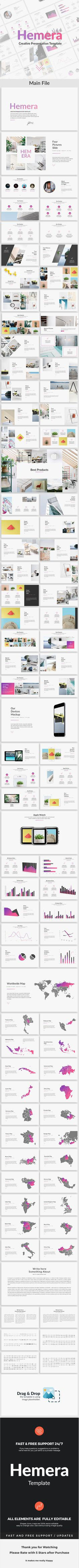 Buy Hemera - Creative Powerpoint Template by EGGStudioDesign on GraphicRiver. Easy and fully editable in PowerPoint (shape col. Keynote Design, Ppt Design, Layout Design, Powerpoint Examples, Creative Powerpoint Templates, Keynote Template, Brochure Template, Presentation Design, Presentation Templates