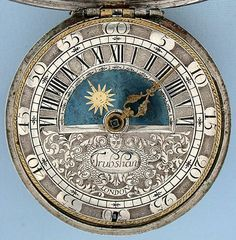 ENGLISH VERGE FUSEE PAINTED DIAL POCKET WATCH MOVEMENT Antique - Поиск в Google