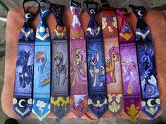 Hand Painted MLP Ties You'll Want To Wear To Work