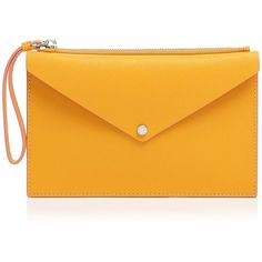 Marc By Marc Jacobs Clutch - Metropoli Large Envelope Zip ($126) ❤ liked on Polyvore featuring bags, handbags, clutches, borse, yellow handbag, marc by marc jacobs, yellow clutches, yellow purse and zipper handbags