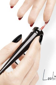 Christian Louboutin has released Loubi Under Red, available next week on the Louboutin website, a new product to help you paint your undernail with a tiny, pointy sponge-tip brush.