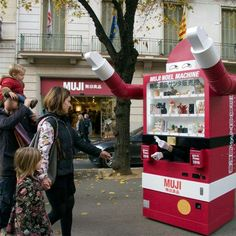 Santa Vending Machines : Muji Christmas Machine